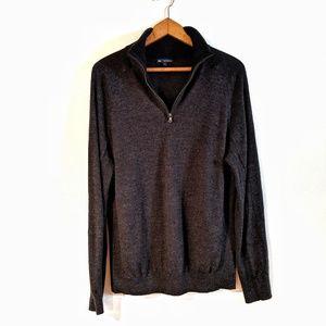 Gap 100% Merino Wool Quarter Zip Sweater Sz Large